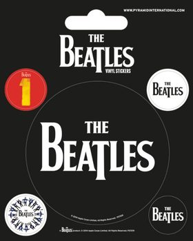 The Beatles - Black Autocollant