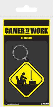 Gamer At Work - Caution Sign Avaimenperä
