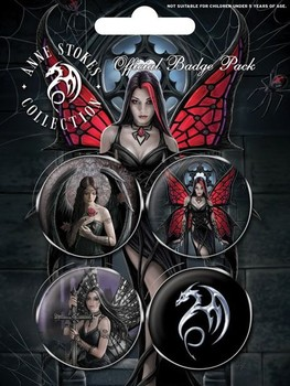 ANNE STOKES - gothic Badges