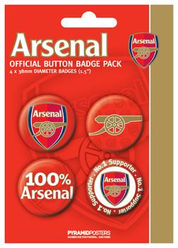 ARSENAL FC - number Badge Pack