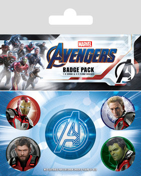 Badge set Avengers: Endgame - Quantum Realm Suits