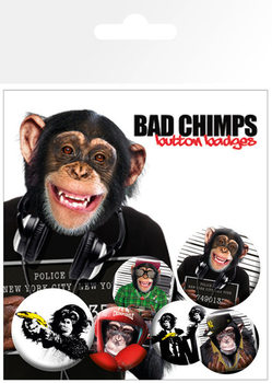 Badge set BAD CHIMPS