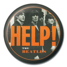 BEATLES - Orange HELP! Badge
