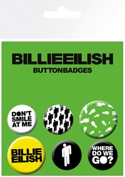 Billie Eilish - Stickman Badge Pack