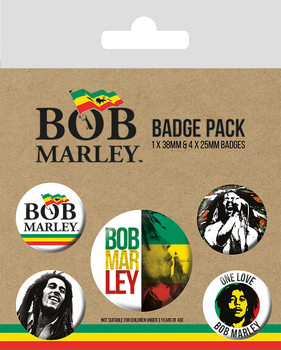 Bob Marley Badge Pack