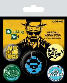 Breaking Bad - Heisenberg Flask Badges