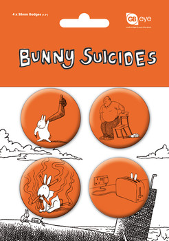 BUNNY SUICIDES Badges