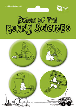 BUNNY SUICIDES - Pack 2 Badges