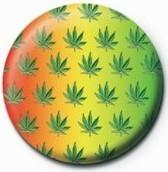 Cannabis leaf - multi Badge