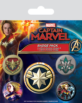 Captain Marvel - Patches Badge Pack