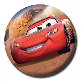 CARS - lightning mcqueen Badge