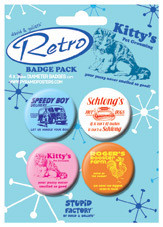 Badges D AND G - Retro