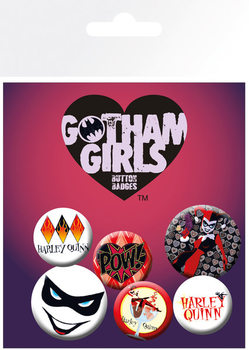 DC Comics - Gotham Girls Harley Quinn Badges