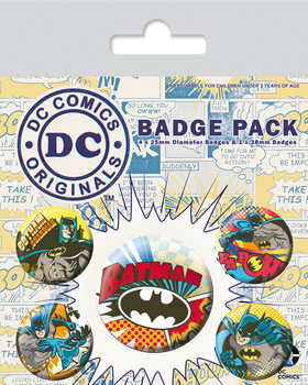 DC Originals - Batman Comic Capers Badge Pack