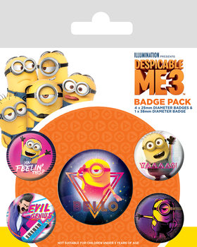 Badge set Despicable Me 3 - 80´s Vibe