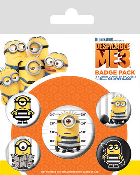 Badge set Despicable Me 3 - Breakout
