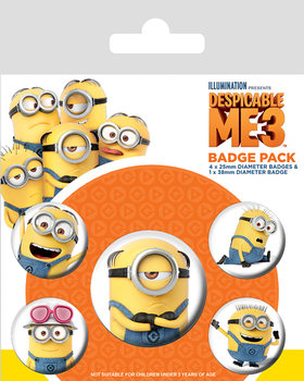 Despicable Me 3 - Minions Badge Pack