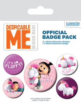 Despicable Me - It's So Fluffy Badge Pack