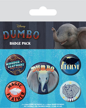 Badge set Dumbo - The Flying Elephant