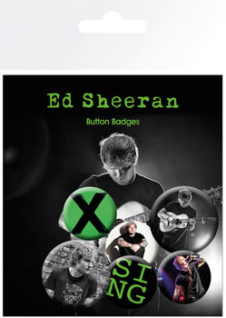 Ed Sheeran - Singer Badge Pack
