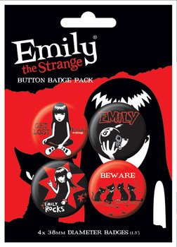 EMILY THE STRANGE 1 Badge Pack