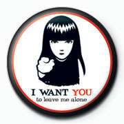 Emily The Strange - i want you Badges