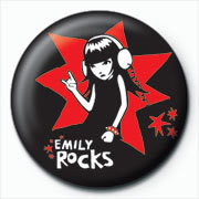 Emily The Strange - rocks Badge