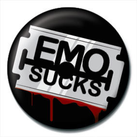EMO SUCKS - Razor blade Badge