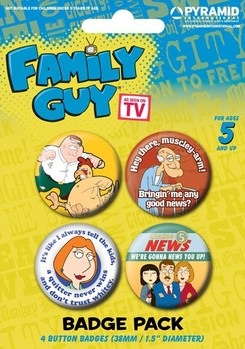 FAMILY GUY - characters Badges