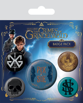 Fantastic Beasts The Crimes Of Grindelwald Badge Pack