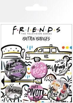 Badge set Friends - Doodle