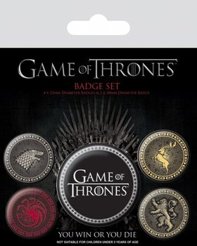 Badge set Game of Thrones - The Four Great Houses