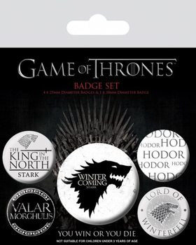 Badges Game of Thrones - Winter is Coming