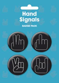 HAND SIGNALS Badges