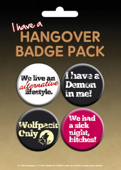 HANGOVER - I have a Badge Pack