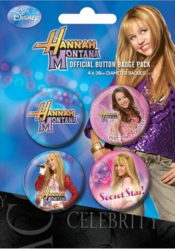 Badge set HANNAH MONTANA - secret star