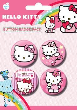 Badge set HELLO KITTY - pink