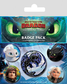 How To Train Your Dragon - Familiar Faces Badge Pack