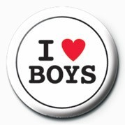 I LOVE BOYS Badges