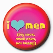 I LOVE MEN Badges