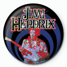 JIMI HENDRIX - guitar Badges