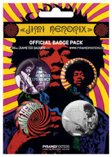JIMI HENDRIX Badges