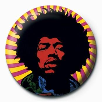 JIMI HENDRIX - psychedelic Badge