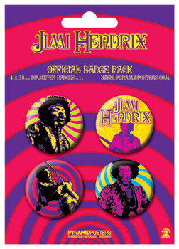 JIMI HENDRIX - purple haze Badge Pack