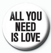 JOHN LENNON - all you need is love Badge