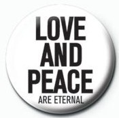 JOHN LENNON - love and peace Badge