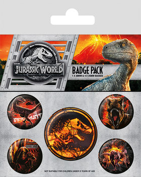 Jurassic World Fallen Kingdom Badge Pack