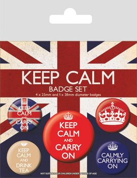 Keep Calm and Carry On Badge Pack
