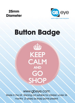 KEEP CALM & GO SHOP Badges