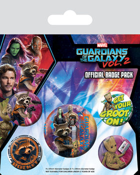 Badges Les Gardiens de la Galaxie Vol. 2 - Rocket & Groot